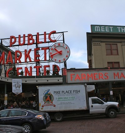 Seattle's Pike's Market And Tossing The Fish!