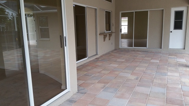 Large Lanai with access from Master Bedroom, Dining Room and Family Room