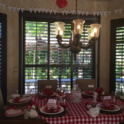 Valentine's Day Tablescape 2016