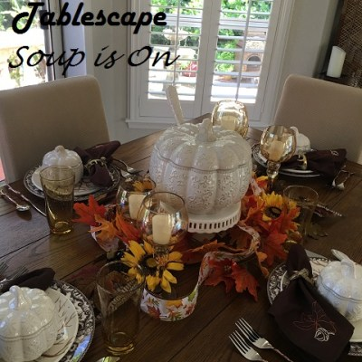 Adorable White Pumpkin Soup Tureens!