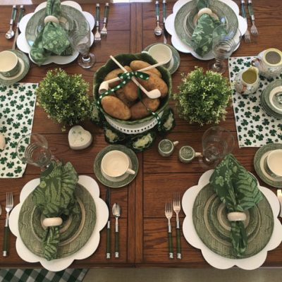 Happy St. Patrick's Day, Tablescape & Menu!