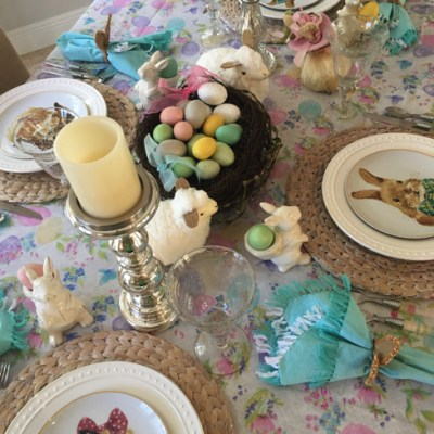 A Bit Of Whimsy Easter Tablescape