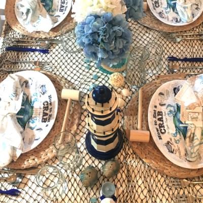 Florida Blue Crab Season Tablescape