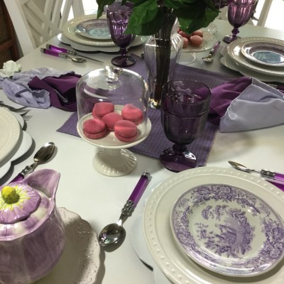 Fresh Lilac Tablescape? It Is Impossible Here, Or is it?