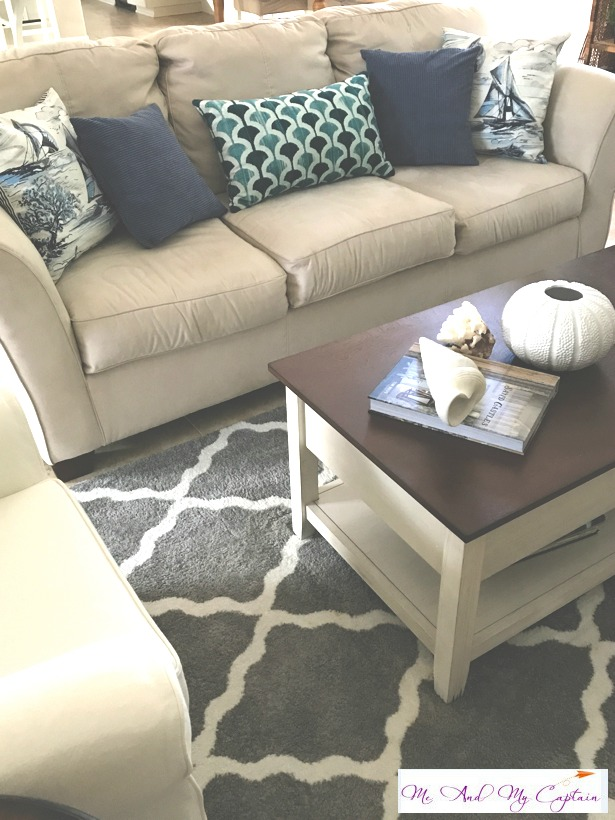 coastal living room coffee table