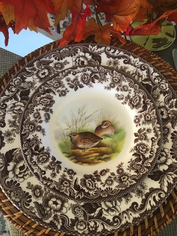 quail fowl on a salad plate