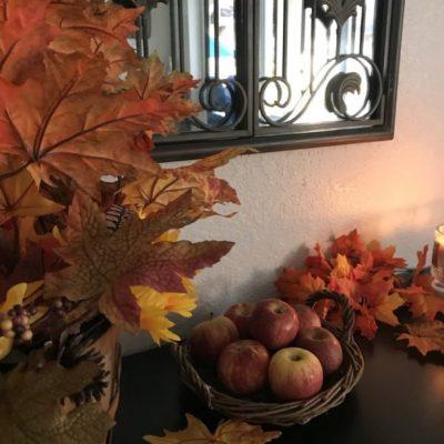 Sofa table Fall house tour