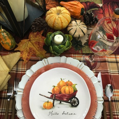 Autumn Dining tablescape.