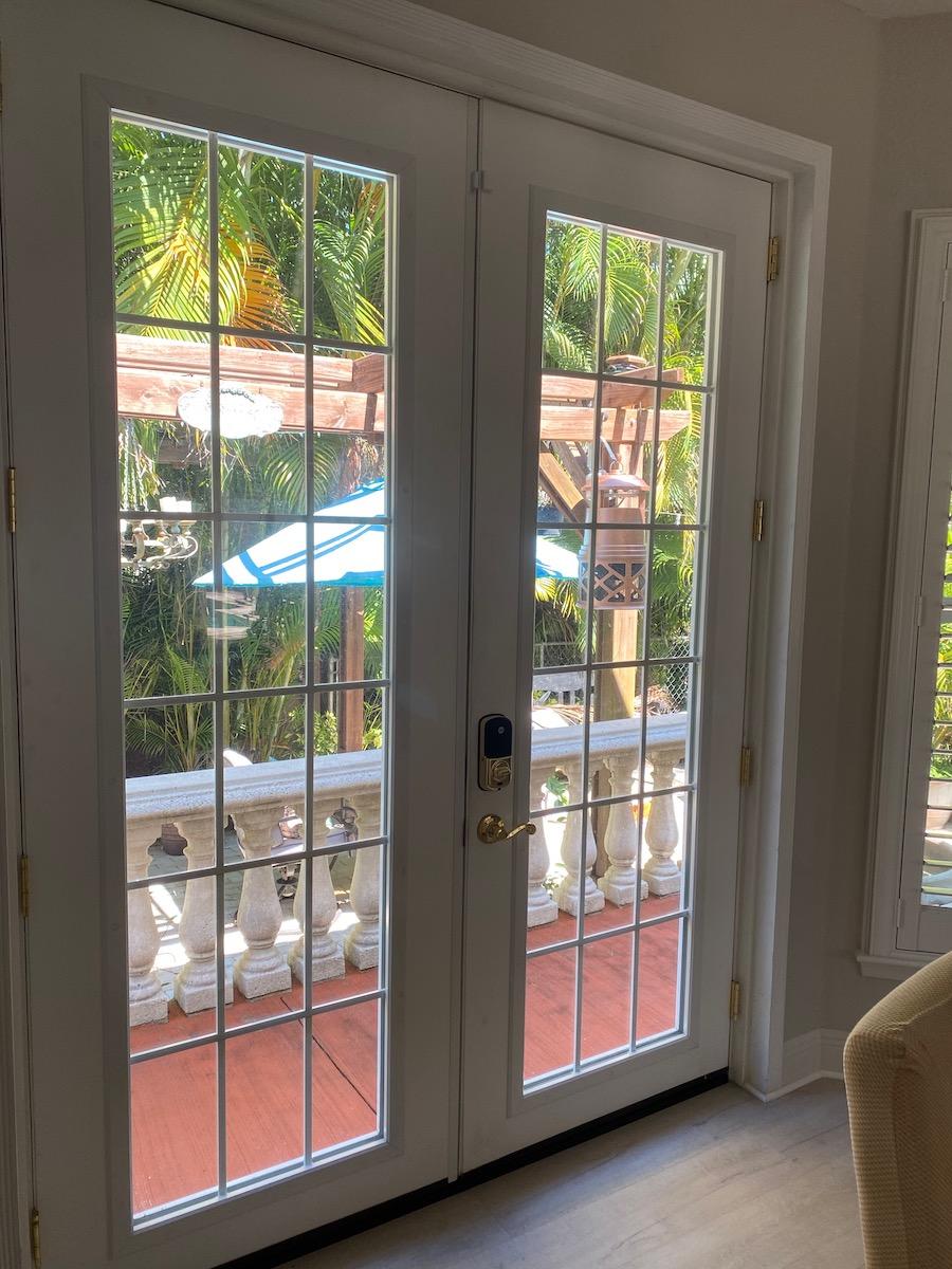 french doors to secret garden