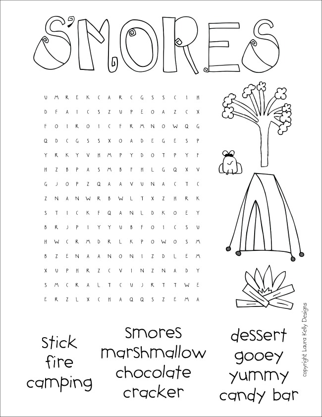 SMORES Word Search
