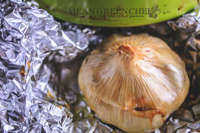 Oven Roasted Garlic Recipe   Mean Green Chef