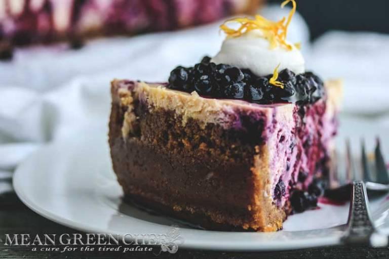 Blueberry Lemon Cheesecake Recipe | Mean Green Chef