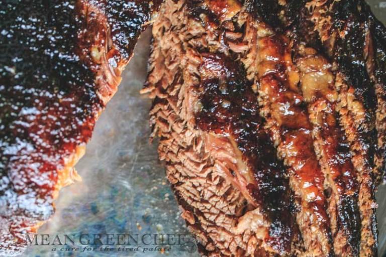 Braised Brisket with Bourbon Peach Glaze Recipe | Mean Green Chef
