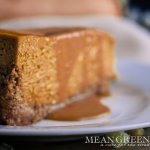 Pumpkin Spice Cheesecake with Caramel Sauce Recipe | Mean Green Chef