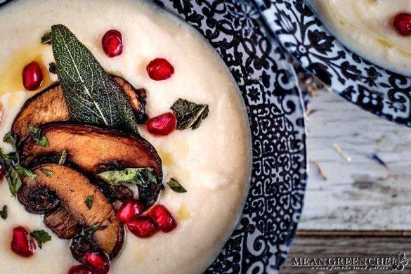 Creamy Cauliflower Bisque Recipe - Mean Green Chef