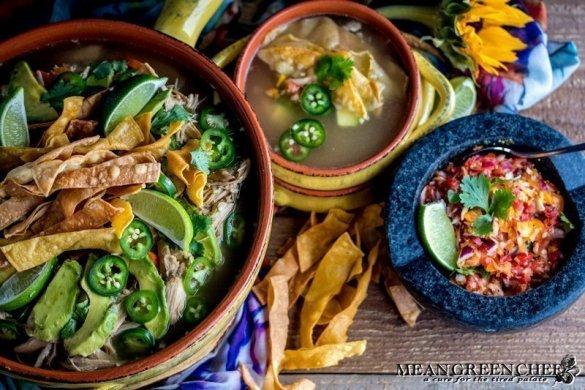 Mexican Tortilla Chicken Soup Recipe | Mean Green Chef | Our authentic Mexican Tortilla Chicken Soup is a favorite in our kitchen. It's easy, bright and totally satisfying! #mexicanfoodrecipes #mexicanchickensoup #mexicancuisine #soup #souprecipeseasy #foodphotography #foodstyling #meangreenchef #MGCkitchen