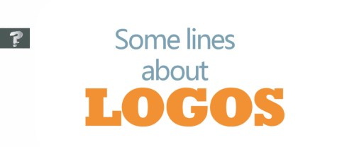 Some lines about logos