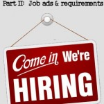 Part 2 Job ads and requirements