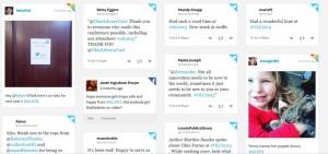 Screenshot of Tagboard #olc2013