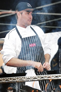 Chef Evans @ BBQ Showdown, Canyons Resort, Park City, Utah