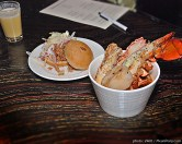 Squash Shooter, Pulled Pork Sandwich & Seafood Cioppino