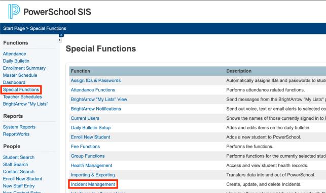 PowerSchool Start Page Screenshot