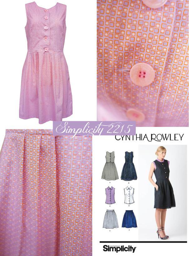 orange and lila square dress