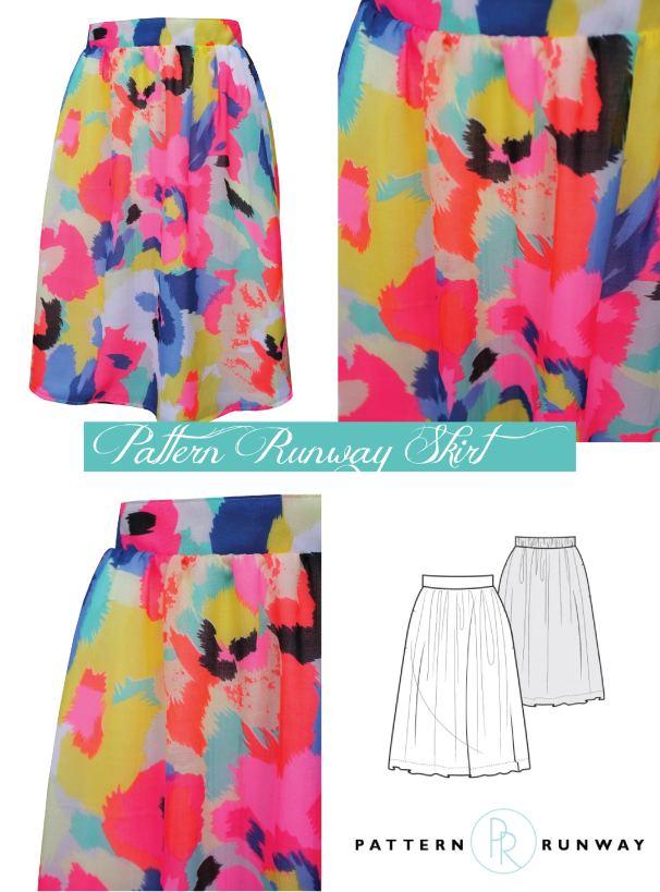 pattern runway skirt