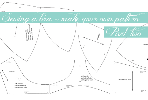 Bra Making – How to DIY your own bra pattern – Measure Twice Cut Once