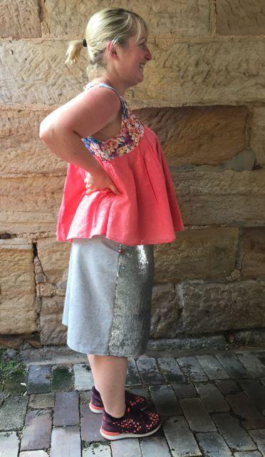 silver skirt side