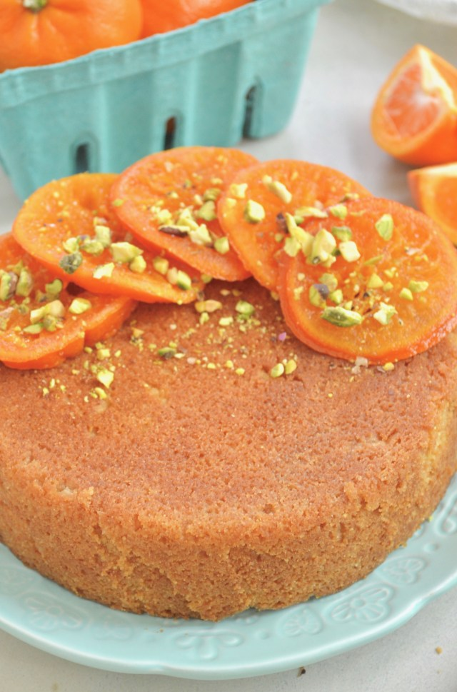 Candied Orange Semolina Cake