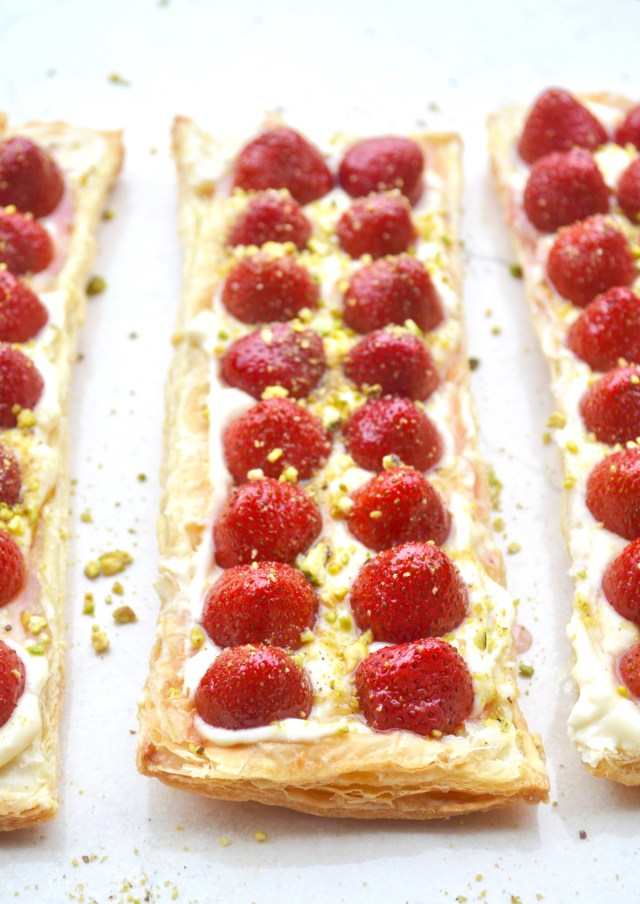 Strawberry Eshta Cream Tart