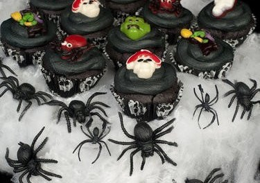 Ghastly Ghoulish Black Velvet Cupcakes