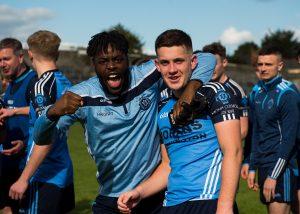 St Colmcilles Premier Champions Team celebration