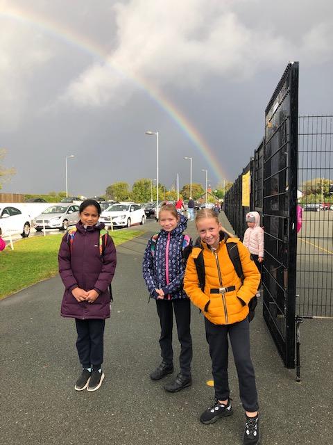 Rainbow going back to school