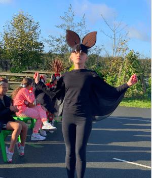 Halloween Art Doncarney Girls School outdoors costumes nine