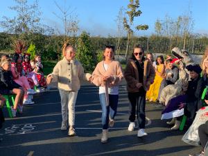Halloween Art Doncarney Girls School outdoors costumes eight