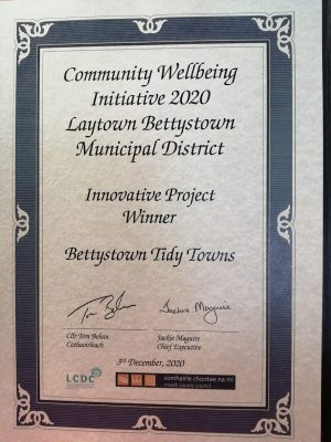 Bettystown Tidy Towns certificate
