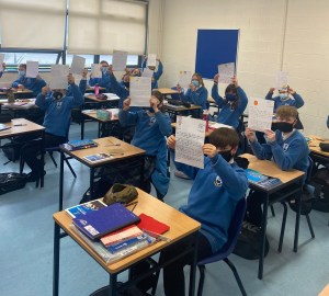First Year Dáltaí Write Letters to Nursing Homes