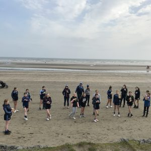 St Colmcilles u13 girls cleaning Bettystown beach