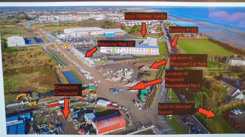 Spine Roads construction progress Laytown Bettystown