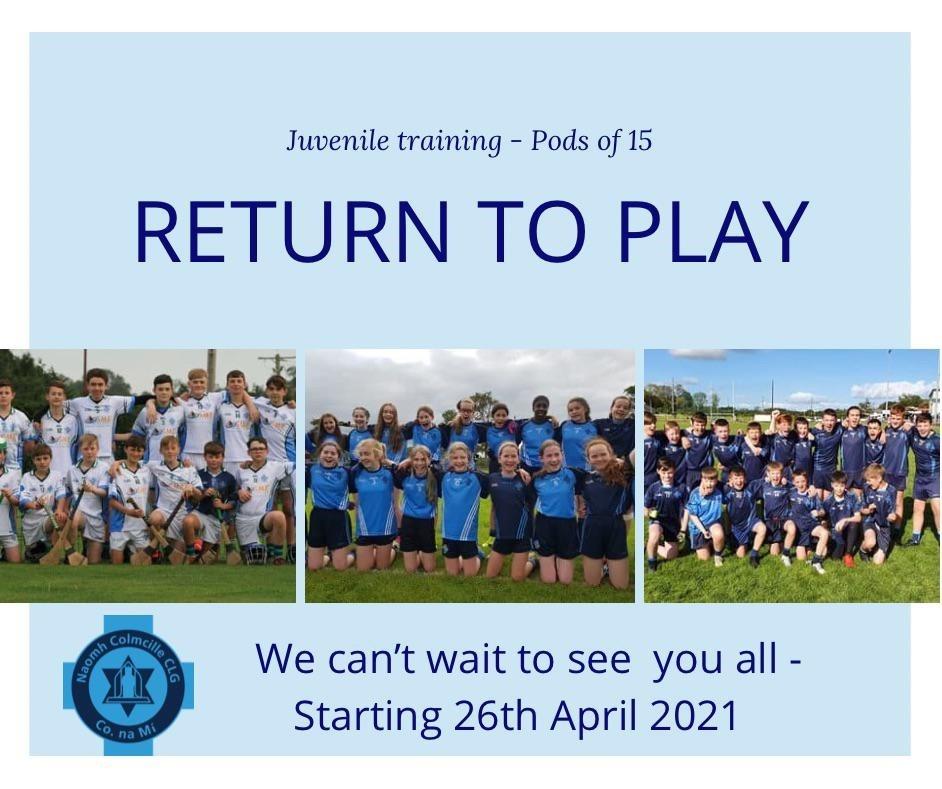 Return to Training poster
