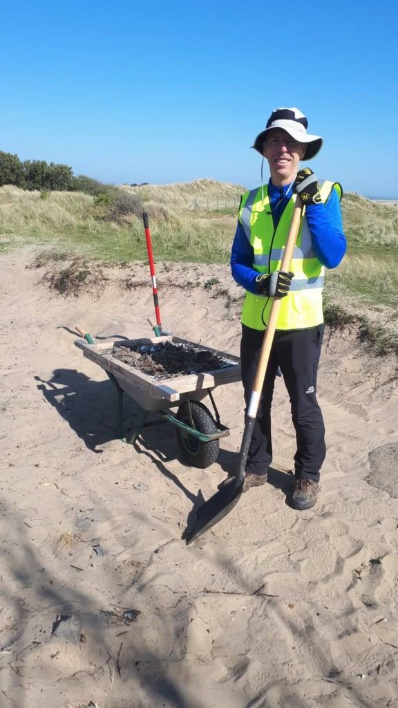BTT work on beach