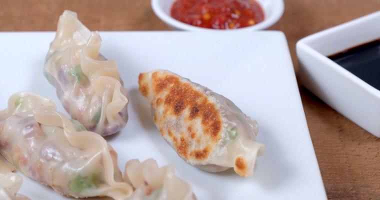 Vegetarian Dumplings (Pot Stickers)