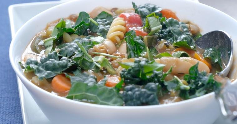 Hearty Lentil Minestrone Soup