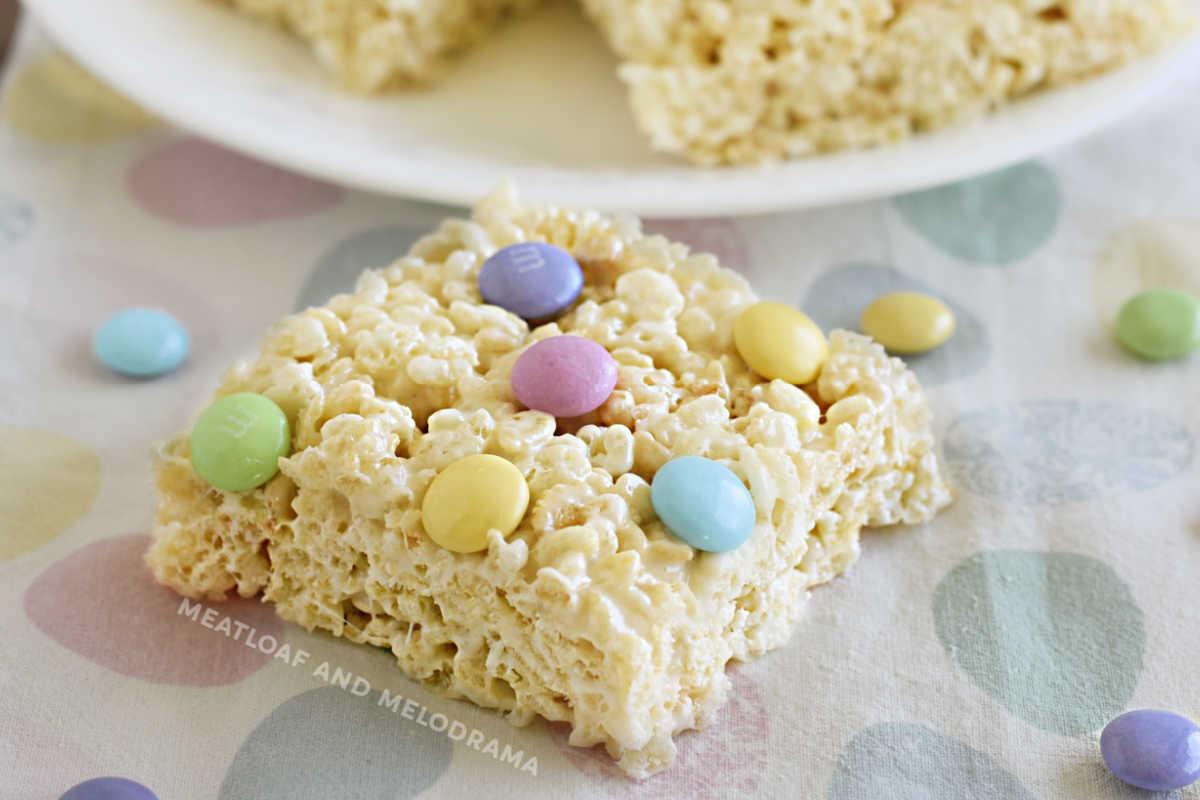 Spring Marshmallow Krispie Treats