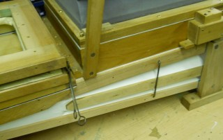 Restoration of Weber Unika piano orchestrion feeders / bellows.