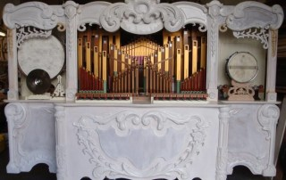 Newly finished Meayers organ, awaiting decoration.