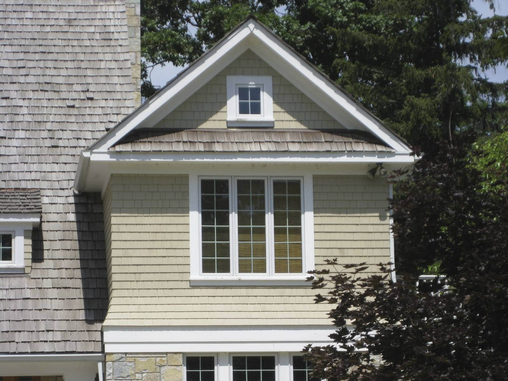 twin lakes house gable detail