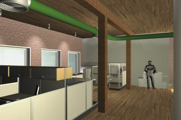 workstations and copy center rendering